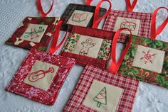 christmas sewing homemade tree ornaments