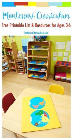Free printable Montessori curriculum