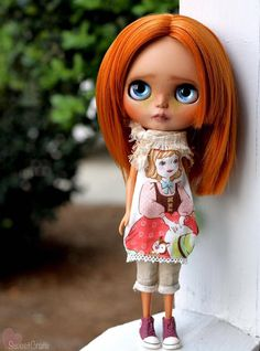 Sammy is on hold for A. Please do NOT purchase unless you are A. Thank you!  Total price of Sammy is $440. $200 payment recieved. $171 trade credit already applied.  ============  -Samantha is a one of a kind Custom Blythe doll. Samantha is my 105th custom Blythe doll. -Samantha is originally a TBL Blythe doll. -Samantha will be packaged securely with care, to be insured she arrives safely. -No clothes or accessories included.  WORK DONE: -Face,nose, and philatrum carving. -Face Up done with…