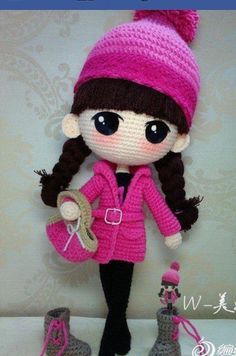 ☆ Gorgeous crochet doll. (Inspiration).