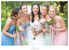 Mixed pastels and country vintage details help to make this vineyard wedding super sweet. Pics by Abigail K. Bridal Musings, Vintage Country, Vineyard Wedding, Bridesmaid Dresses, Wedding Dresses, Picture Poses, Your Girl, Real Weddings, Pastels