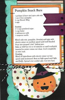 Paper Cottage: Recipe Kit to Go for week of 10/15/12
