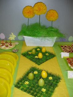 Easter table decorations #easter #table