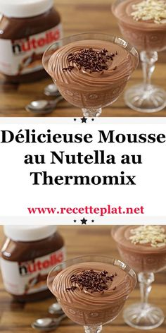 Desserts For A Crowd, Fun Desserts, Delicious Desserts, Mousse Dessert, Desserts Nutella, Chocolate Desserts, Diabetic Snacks, Diabetic Recipes, Lidl