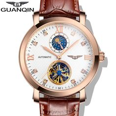 69.87$  Buy here - http://aliz9l.worldwells.pw/go.php?t=32595898901 - GUANQIN Business Waterproof Automatic Mechanical Watches Men Fashion Casual Sport Watch Men's Luxury Brand Watches