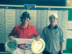 Ludwick and Maxwell FCWT junior golfers