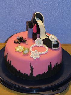 Girl cake with make up
