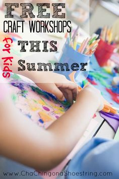 Don't spend a fortune on activities this summer. Check out this long list of FREE Craft Classes for Kids this Summer at stores nationwide like Michaels, the LEGO store, Pottery Barn Kids and more!