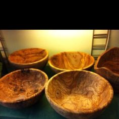 SALAD BOWLS - Olive Tree Store Olive Tree, Salad Bowls, Wood Art, Serving Bowls, Decorative Bowls, Store, Tableware, House, Home Decor