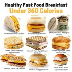BOOKMARK THIS POST FOR LATER↗️🔰 IF YOU ARE EVER IN A PINCH, AND HAVE LITTLE OPTIONS, REFER BACK TO THIS POST! - Healthy Fast Food Breakfast…