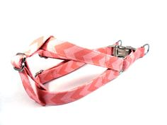Dog Harness, HOT PINK CHEVRON, Girl Dog Harness, Dog Step in Harness, Step in Dog Harness, Handmade Dog Harness