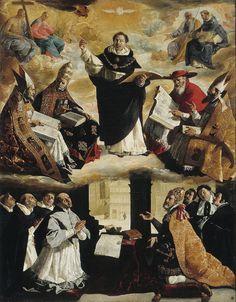 Francisco de Zurbaran, Apotheosis of St. Thomas Aquinas, 1631.