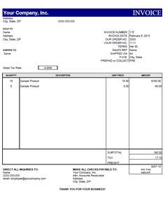 free invoice template microsoft word mac | invoice | pinterest, Invoice examples