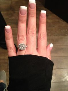 My bling. Engagement ring