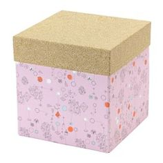 IKEA - KVITTRA, Box with lid, The boxes in the KVITTRA series are available in several different patterns and sizes – mix and match according to taste, space and need.The included label holder helps you to create an overview to quickly find your things.