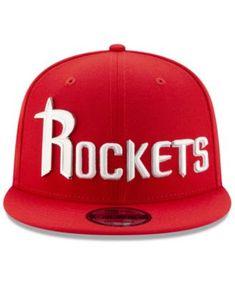 a72aa1e8fb7b1 New Era Houston Rockets Enamel Script 9FIFTY Snapback Cap - Red Adjustable