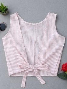 Plunging Neck Striped Tank Top - Pink M Fashion Sewing, Diy Fashion, Fashion Outfits, Fashion Online, Trendy Fashion, Fashion Tips, Diy Clothing, Sewing Clothes, Dress Sewing Patterns