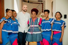 A Multicultural Wedding With The Bride In Pedi Attire. Bontle Bride is the ultimate place for brides and grooms to draw inspiration . Pedi Traditional Attire, Sepedi Traditional Dresses, African Traditional Wedding Dress, African Fashion Traditional, African Inspired Fashion, African Fashion Dresses, Fashion Skirts, African Wedding Attire, African Attire