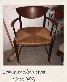 Vintage Danish modern arm chair on Etsy, $250.00