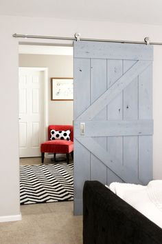 Barn doors for the new bathrooms