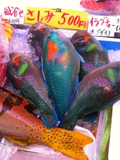 "#FriFotos: For Sale!   ""I found these fish at the food market in Naha, Okinawa this winter. I'm not sure what the name of this type of fish is, but I love the colors! Walking around at the fish markets in Japan, I'm always amazed by the variety of fish they have. We eat a lot of fish in Norway as well, but you you won't find that kind of selection."" - Cathrine, Team Jetpac"