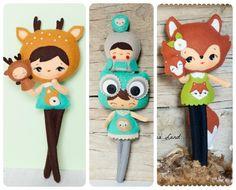 Woodland dolls. Set of four. from Noia Land by DaWanda.com