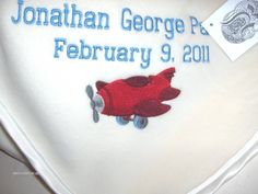 Custom Personalzied Airplane Fleece Baby Blanket by RiginalsByRuth, $75.00 ($6 shipping)