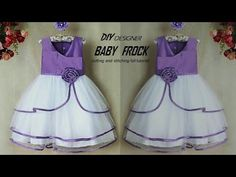DIY Designer net layered baby frock cutting and stitching Full Tutorial Little Girl Pageant Dresses, Diy Baby Headbands, Girls Cuts, Baby Room Diy, Cool Baby Clothes, Diy Baby Gifts, Frocks For Girls, Baby Sewing, Stitching