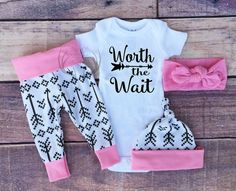 Baby Girl Coming home Outfit Set Worth The by TheSouthernCloset101