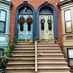 Couldn't resist these twin doors! : @southendboston #bostondoorproject by bostondoorproject