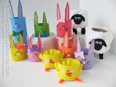 Cardboard Tube Easter Characters by @amandaformaro Crafts by Amanda