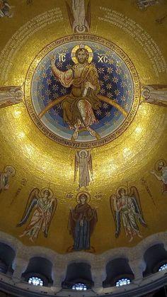 Byzantine Icons, Byzantine Art, Byzantine Mosaics, Religious Images, Religious Art, Paleolithic Art, Orthodox Catholic, Old Time Religion, Church Icon