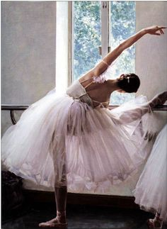 One of my best trends this season to hit the catwalks is the whole ballerina look . I like to call it 'Urban Ballerina'. I first started ballet when I was Ballet Art, Ballet Dancers, Ballerinas, Ballet Shoes, Ballet Painting, Pointe Shoes, Shall We Dance, Just Dance, Grands Ballets Canadiens
