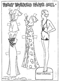 Peggy Lovebyrd friend of Etta Kett Paper Doll by Paul Robinson June 1933