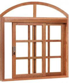 Janela de madeira maciça