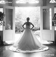 Queen Anna Lace Neckline and Satin Skirt A-line Wedding Gowns on Storenvy