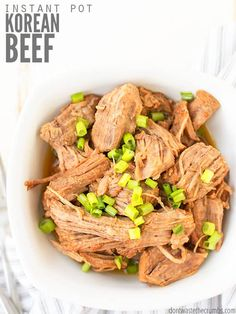 Excellent Instant Pot Korean Beef Recipe For Tacos, Burritos Or Bowls With Rice. Utilize A Roast, Ground Beef Or Even A Slow Cooker - It's Easier Than Bulgogi And Kid Approved, Even By The Picky Eaters Korean Beef Recipes, Asian Recipes, Real Food Recipes, Chicken Recipes, Healthy Recipes, Korean Food, Bread Recipes, Homemade Cheez Its, Hummus Recipe