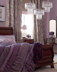 Love the whole thing...especially the bed!!! Darker color purple on contrasting wall.