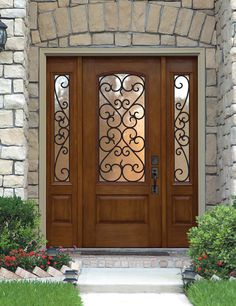 "Palermo Fiberglass Door - Prehung Tempered glass Double Glazed Fiberglass Arch Lite 1 Panel Palermo Exterior Sidelites Door GBG (iron) with Glass 80"" Tall"