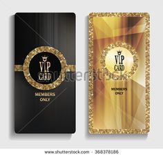 Vertical gold VIP cards with abstract pattern - stock vector Vip Card, Game Icon, Tag Design, Boutique, Card Tags, Credit Cards, Abstract Pattern, Black Diamond, Eyelashes