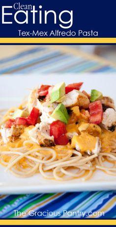 Chicken Tex Mex Alfredo Pasta