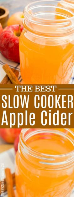 Cooker Apple Cider the BEST fall recipe!Slow Cooker Apple Cider the BEST fall recipe! No Added Sugar Apple Cider // Instant Pot Apple Cider Crockpot Apple Cider, Best Apple Cider, Warm Apple Cider, Homemade Apple Cider, Spiced Apple Cider, Apple Cider Donuts, Spiced Apples, Apple Cider Juice, Slow Cooker Apples