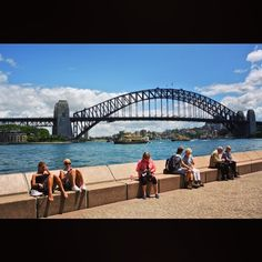 Sitting there with the back to the spectacular view but actually facing the even more iconic. #australia #sydney #sydneyharbourbridge #bridge #sea #harbour #tourists #sydneyoperahouse #operahouse #summer #nature #landscape #architecture #iconic #view by feljig http://ift.tt/1NRMbNv