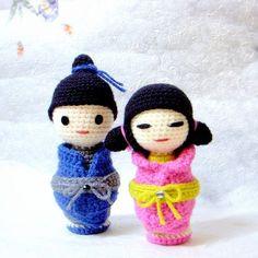 Amigurumi Japanese Doll : 1000+ images about amigurumi - Kokeshi Doll on Pinterest ...