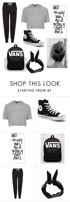 """""""School #2"""" by milliegrace1479 on Polyvore featuring Topshop, Converse, Casetify, Vans and Boohoo"""