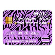 Credit Card Mall Scavenger Hunt Party Invitation - birthday invitations diy customize personalize card party gift