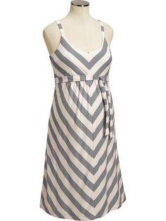 Old Navy | Maternity Chevron-Stripe Tank Dresses