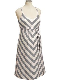 Old Navy Maternity Chevron Stripe Tank Dress $30