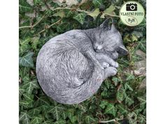 Spící kočka z  mrazuodolného betonu. Flowers Garden, Garden Sculpture, Outdoor Decor, Diy, Home Decor, Decoration Home, Bricolage, Room Decor, Diys