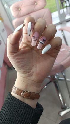 Uñas largas en gel Nails, Beauty, Long Nails, Fingernail Designs, Decorations, Finger Nails, Ongles, Beauty Illustration, Nail